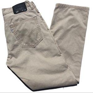 Men's Levi's 514 Khaki Denim Jeans Size 30x30